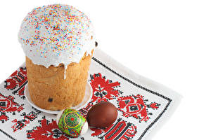 Desktop hintergrundbilder Feiertage Ostern Backware Kulitsch Zuckerguss Ei Lebensmittel
