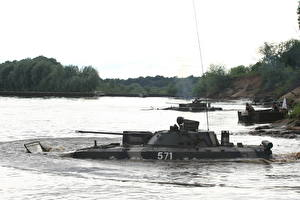 Images IFV Military vehicle Water River military