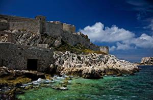 Images France Castle Coast Marseille Castillo de If Cities