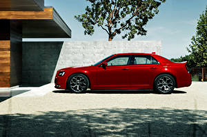 Pictures Chrysler Red Luxury Side Metallic 2015 300 S automobile
