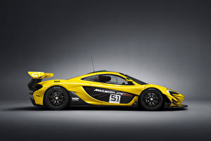 Sfondi desktop McLaren Tuning Giallo Vista laterale 2015 P1 GTR autovettura