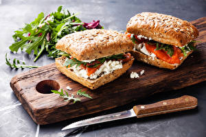 Pictures Fast food Butterbrot Knife Sandwich 2 Food