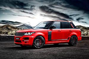 Papel de Parede Desktop Land Rover Tuning Vermelho 2015 Startech Range Rover Pickup L405 Carros