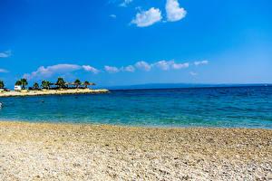 Pictures Croatia Sea Coast Sky Scenery City of Split Nature