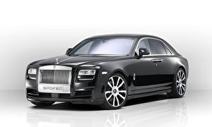 Bilder Rolls-Royce Tuning Graues Metallisch Luxus 2014 Ghost (Spofec) auto