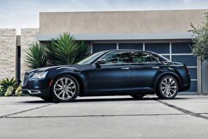 Wallpapers Chrysler Blue Luxury Side 2015 300 C Cars