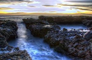 Fotos Sonnenaufgänge und Sonnenuntergänge Küste USA Kalifornien HDR Natur