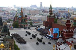 Wallpaper Russia Moscow Holidays Victory Day 9 May Military parade 2015 Cities