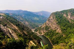 Picture India Mountains Lake Karnataka Nature