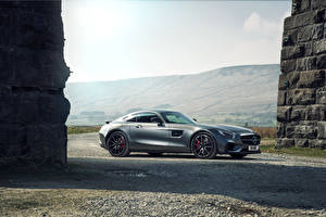 Images Mercedes-Benz Tuning Silver color Side 2015 AMG GT S Edition 1 Cars