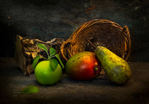 Picture Apples Pears Still-life Wicker basket