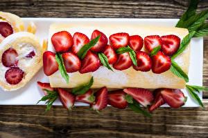 Hintergrundbilder Backware Obstkuchen Erdbeeren das Essen
