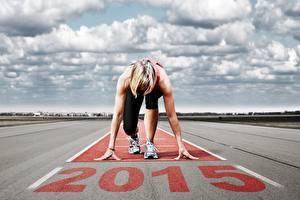 Wallpapers Sky 2015 Clouds Run Start Sport