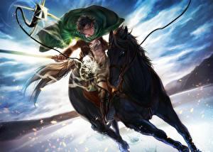 Picture Attack on Titan Horse Warrior Guys Hajime Isayama, Levi Ackerman