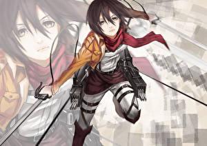 Image Attack on Titan Warriors Mikasa Ackerman Girls