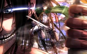 Images Attack on Titan Warrior Swords Swordsouls, Mikasa ackerman, Eren Jaeger Girls