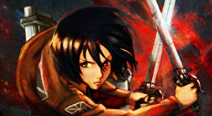 Image Attack on Titan Swords Girls