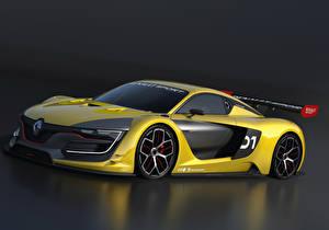 Papel de Parede Desktop Renault Tuning Amarelo 2014 Renault R.S. 01 automóvel