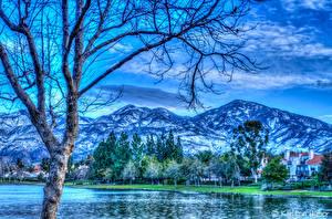 Fotos Vereinigte Staaten Landschaftsfotografie Flusse Gebirge Kalifornien Bäume HDR Rancho Santa Margarita Natur