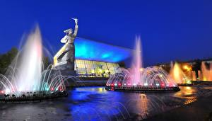 Hintergrundbilder Russland Springbrunnen Denkmal