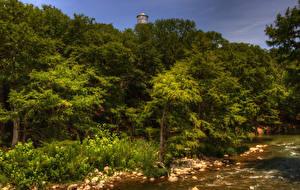 Hintergrundbilder Vereinigte Staaten Wälder Flusse HDRI Gruene Texas Natur