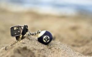 Bilder Nahaufnahme Sand Kugeln Schlüssel