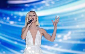 Bakgrunnsbilder Polina Gagarina Blonde Eurovision 2015 Unge_kvinner Musikk