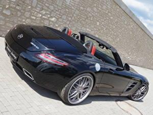 Bilder Mercedes-Benz Schwarz Cabrio Roadster Senner Tuning, SLS, 63, AMG, Roadster Autos