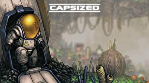 Wallpaper Cosmonaut Helmet capsized game Games