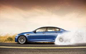 Pictures BMW Sky Asphalt Side Blue M5, F10 automobile
