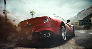 Pictures Need for Speed Ferrari Back view Red Rivals Cars
