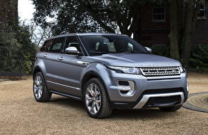 Bilder Land Rover Graues Vorne Evoque Autos