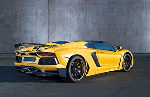 Hintergrundbilder Lamborghini Luxus Gelb Hinten Roadster Hamann Aventador Roadster Limited LB834