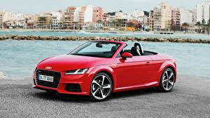 Wallpapers Houses Audi Convertible Red Roadster TT Roadster 2.0 TFSI quattro S Cars