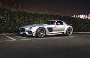Image Mercedes-Benz Silver color Parking 2015 Prior Design PD900GT ( Mercedes-AMG GT) automobile