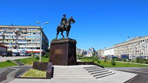 Bilder Denkmal Wolgograd Marshal Konstantin Rokossovsky