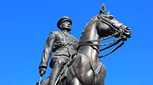 Hintergrundbilder Denkmal Wolgograd Marshal Konstantin Rokossovsky