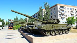 Picture Monuments Tanks T-72 Volgograd Museums Panorama Museum The Battle of Stalingrad Cities
