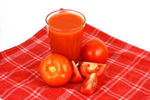 Pictures Tomatoes Drink Vegetables Closeup Highball glass Red Food