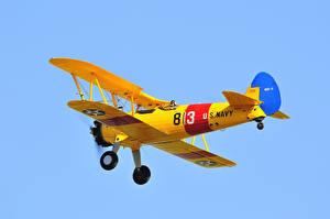 Hintergrundbilder Antik Flugzeuge Gelb Flug