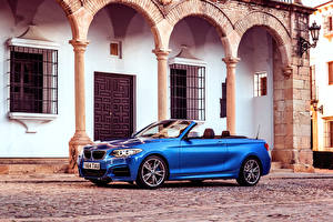 Images BMW Convertible Side Blue Street 2015 M235i UK-spec F23 automobile