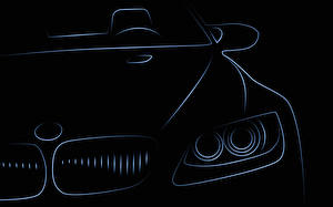Wallpapers BMW Painting Art Vector Graphics Front Headlights automobile