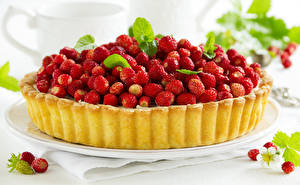 Hintergrundbilder Hügel-Erdbeere Obstkuchen Backware Lebensmittel