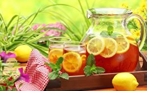 Image Lemons Drinks Lemonade Jugs Highball glass