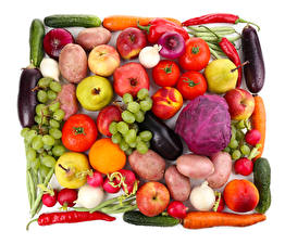 Images Tomatoes Cabbage Pepper Apples Grapes Potato Pomegranate Carrots Cucumbers Peaches Pears