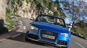 Wallpapers Audi Front Blue Headlights Convertible RS 5 coupe automobile
