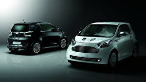 Picture Aston Martin 2 Front Back view White Black Cygnet Cars