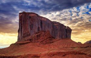 Hintergrundbilder Himmel Sonnenaufgänge und Sonnenuntergänge Wüste Vereinigte Staaten Felsen HDR Monument Valley sandstone Colorado Plateau Natur