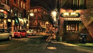 Bilder Gebäude Vereinigte Staaten Boston Stadtstraße Straßenlaterne HDRI Massachusetts Städte Autos