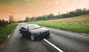 Hintergrundbilder BMW Wege Asphalt M3, E46, Road auto